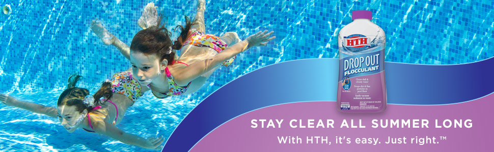 HTH Drop Out™ Flocculant for Swimming Pools, 1 qt. - Walmart.com