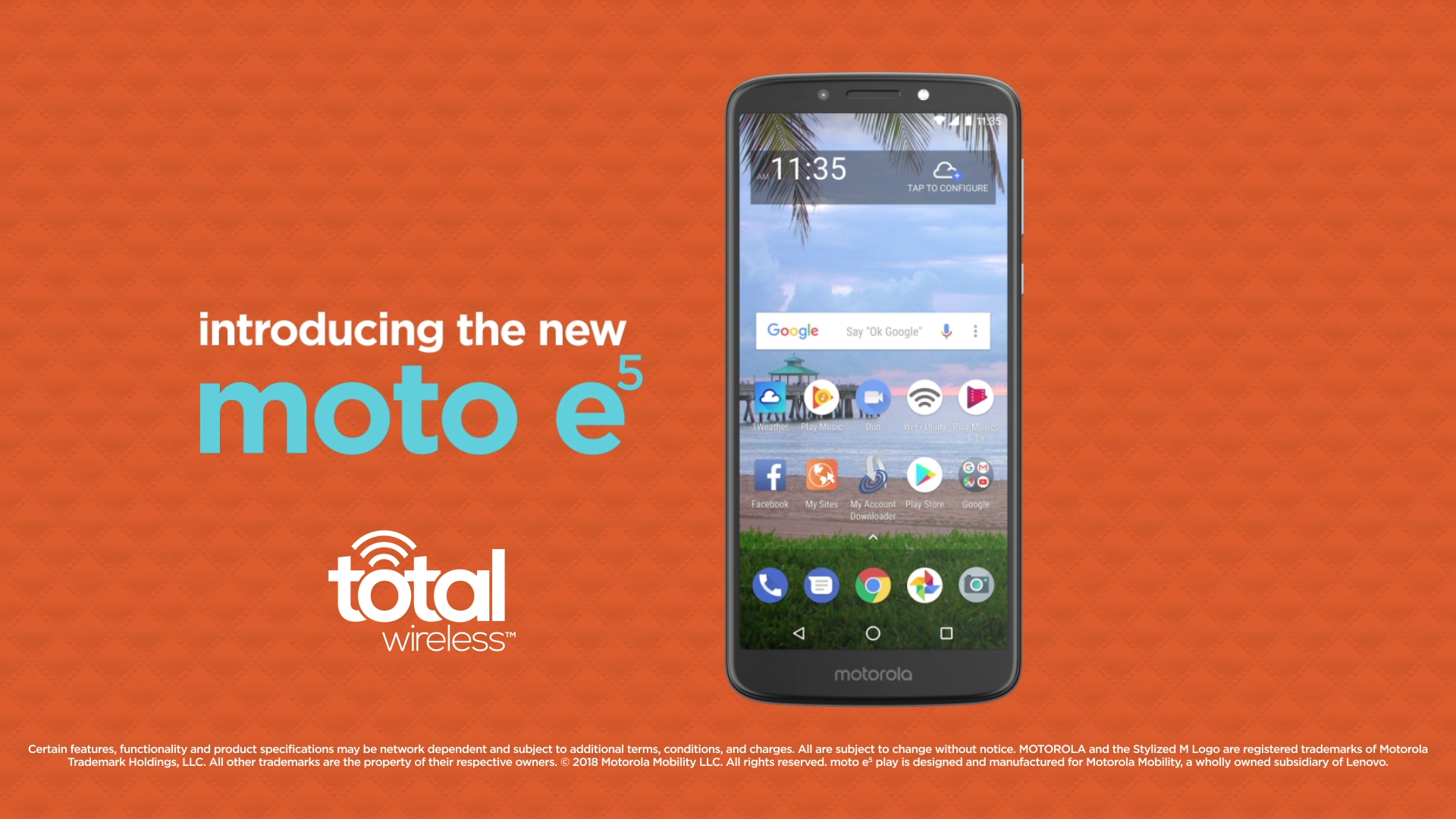 Total Wireless Motorola e5 Prepaid Smartphone