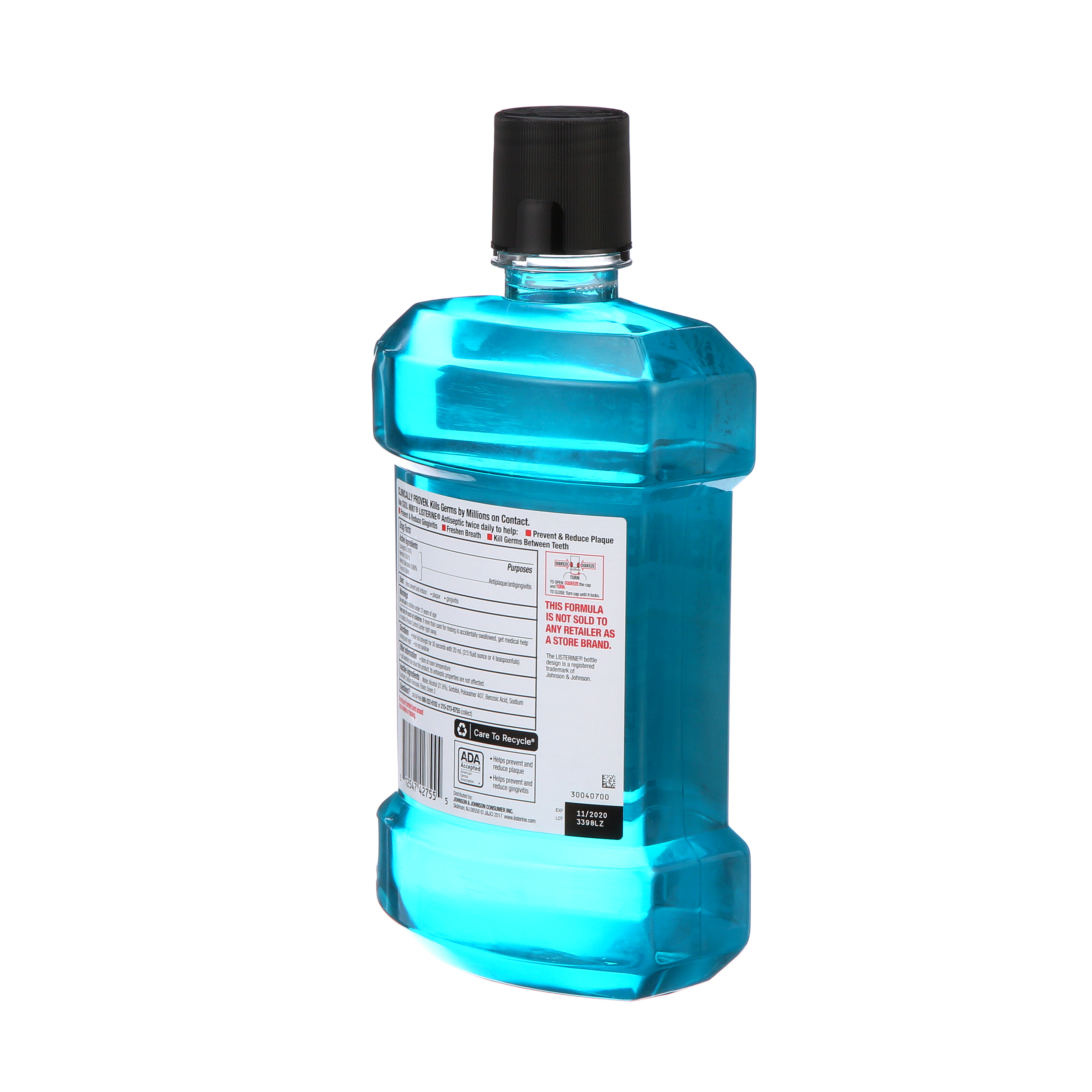 3c01e1ba99c7 Listerine Cool Mint Antiseptic Mouthwash for Bad Breath, 1.5 L ...